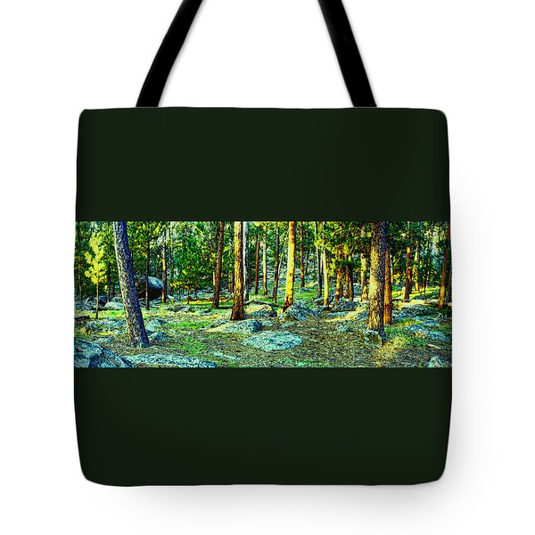 Devils Tower Morning Tote Bag by Dave Luebbert