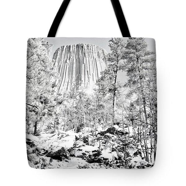 Devils Tower Wyoming Tote Bag
