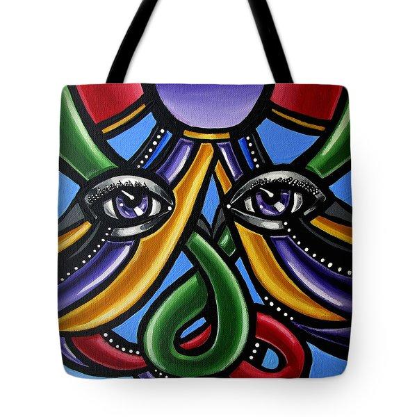 Colorful Eye Art Paintings Abstract Eye Painting Chromatic Artwork Tote Bag