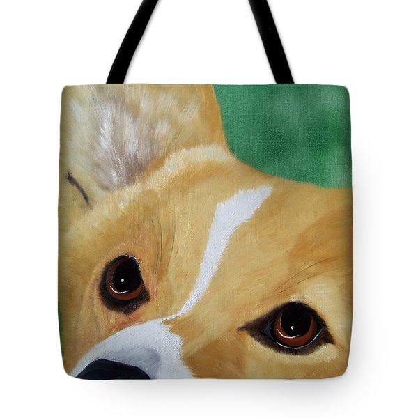 Devotion-corgi Eyes Of Love Tote Bag
