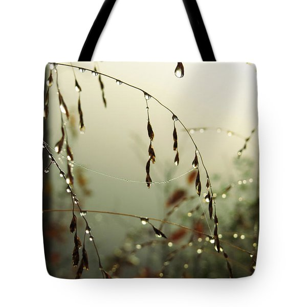Tote Bag featuring the digital art Dew Drop Garland by Kathleen Illes