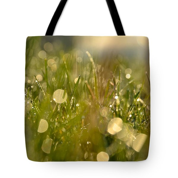 Dew Droplets Tote Bag