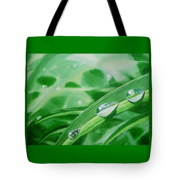 Dew Drops Tote Bag by Irina Sztukowski