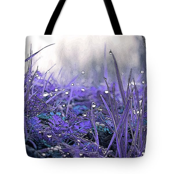 Dew Drops Magic Two Tote Bag by Robert Ball