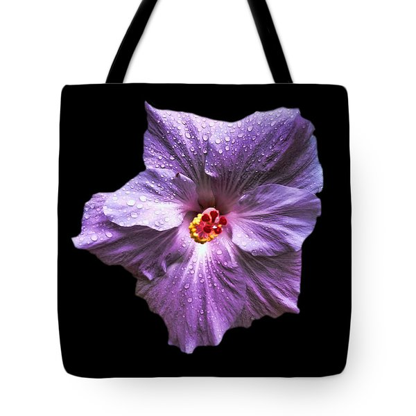 Dew Kissed Hibiscus Tote Bag by Pamela Walton