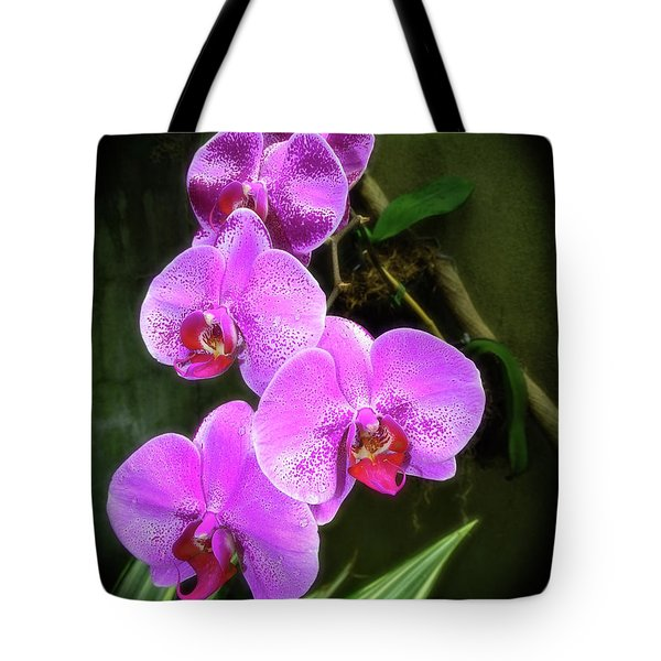 Dew-kissed Moth Orchids Tote Bag
