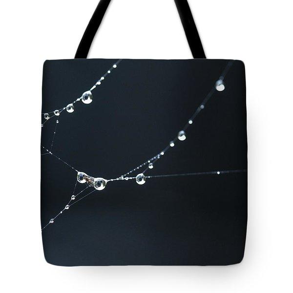 Dew On Cobweb 001 Tote Bag