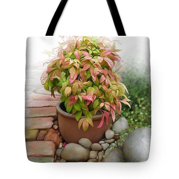 Dew On Leaves Tote Bag
