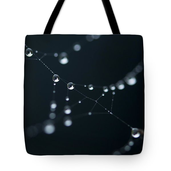 Dewdrop On Cobweb 002 Tote Bag