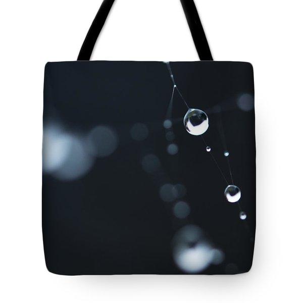 Dewdrops On Cobweb 004 Tote Bag