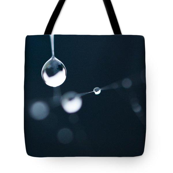 Dewdrops On Cobweb 005 Tote Bag