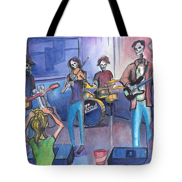 Dewey Paul Band Tote Bag by David Sockrider