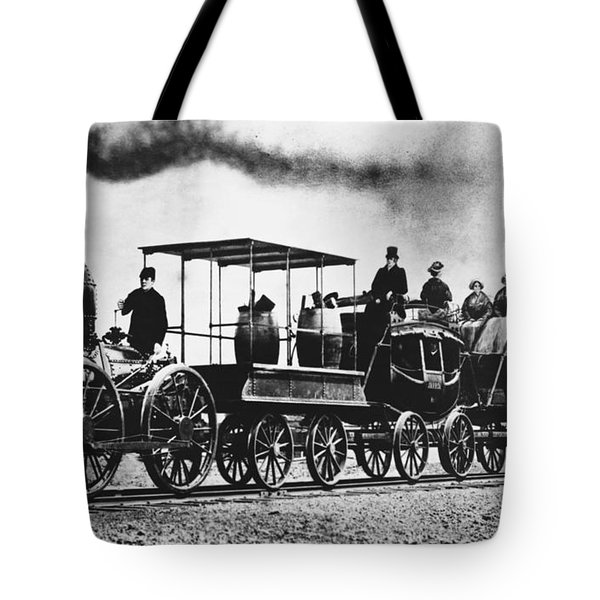 Dewitt Clinton Locomotive Tote Bag by Omikron
