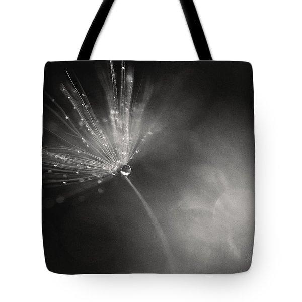 Dewy Dandelion Fireworks Tote Bag