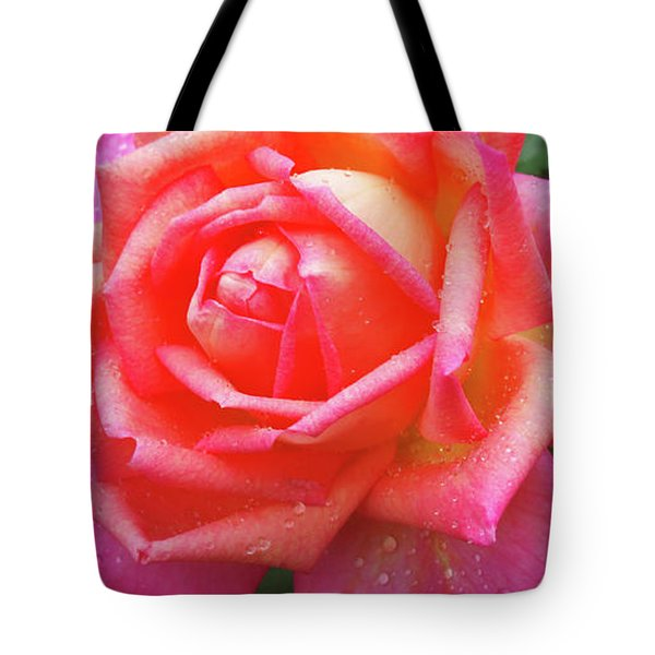 Tote Bag featuring the digital art Dewy Rose by Kathleen Illes