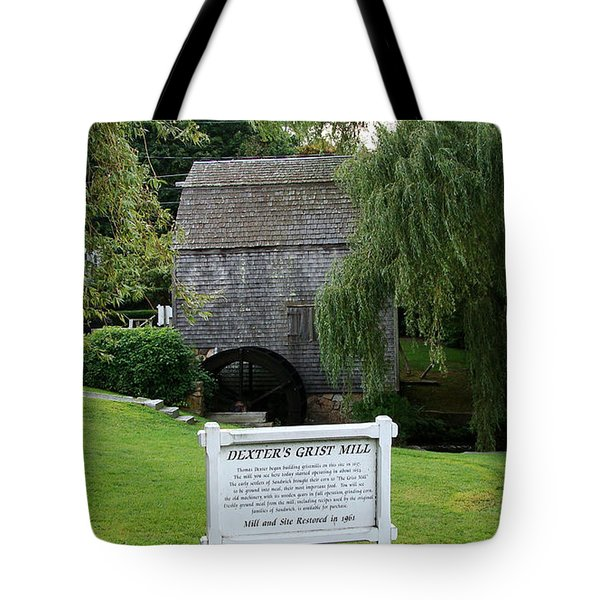 Dexter's Grist Mill Tote Bag by Rod Jellison