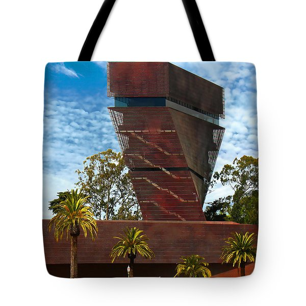Deyoung Museum Twist Tower Tote Bag by Wernher Krutein