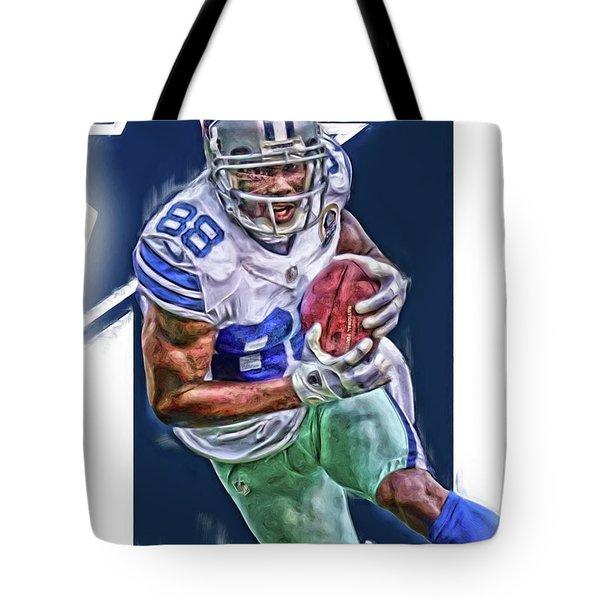 Dez Bryant Dallas Cowboys Oil Art Tote Bag