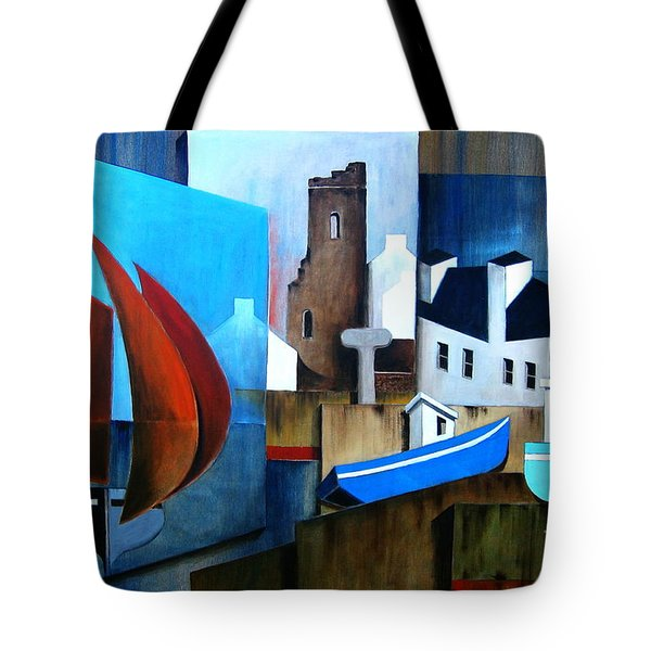 Returning Home And A Stop Over At Tory Island Tote Bag