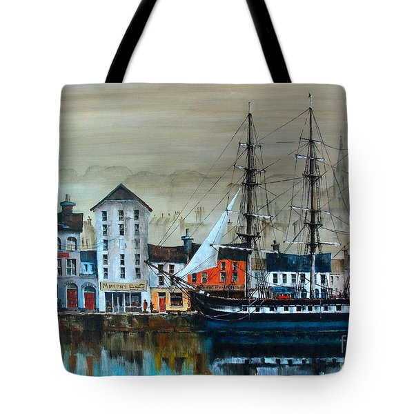Ireland Canada Links.. The'' Dunbrody'' Famine Ship In New Ross, Wexford Tote Bag