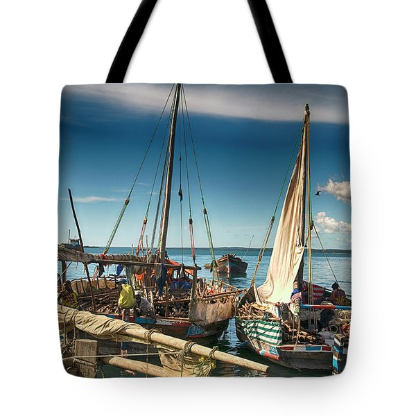 Dhow Sailing Boat Tote Bag by Amyn Nasser