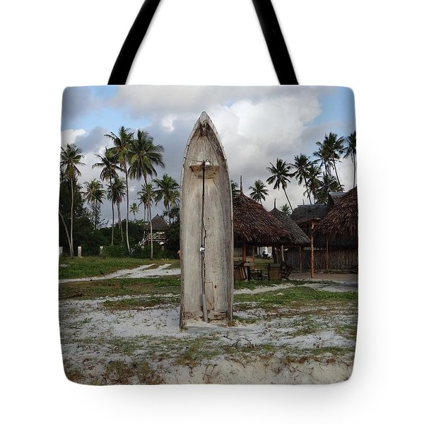 Dhow Wooden Boat As A Beach Shower Tote Bag