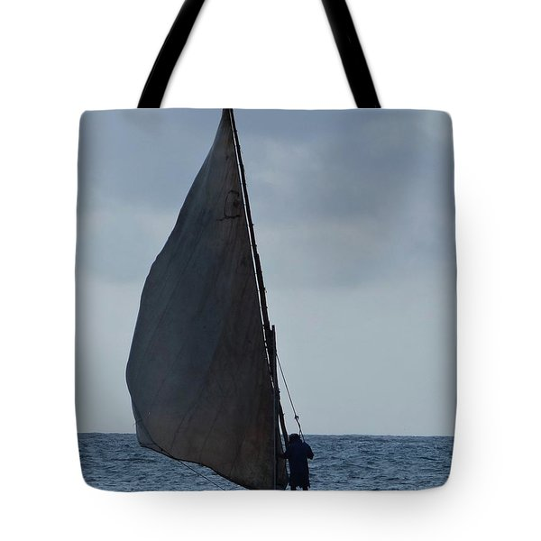 Dhow Wooden Boats In Sail Tote Bag