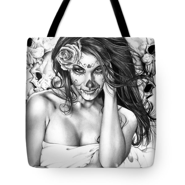 Tote Bag featuring the painting Dia De Los Muertos 2 by Pete Tapang