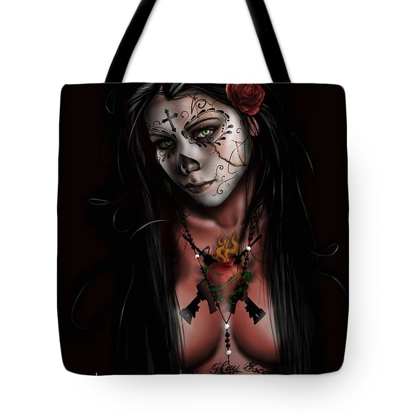 Tote Bag featuring the painting Dia De Los Muertos 3 by Pete Tapang