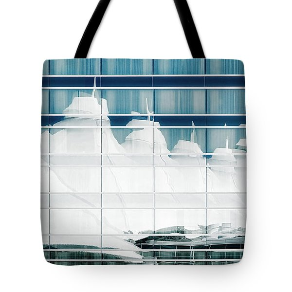 Tote Bag featuring the photograph Dia Hotel Reflection by Joe Bonita