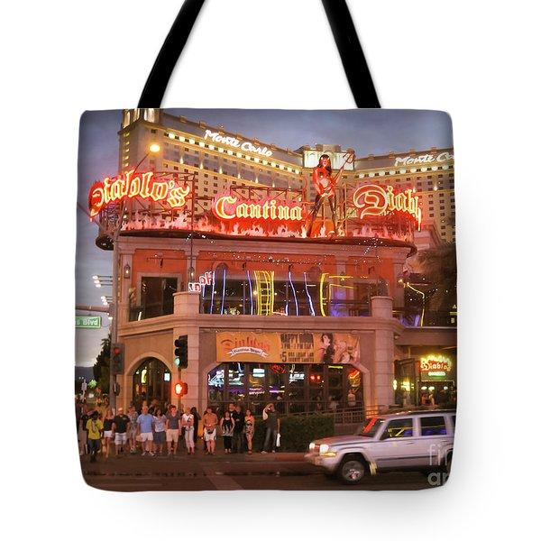 Diablo's Cantina In Las Vegas Tote Bag by RicardMN Photography