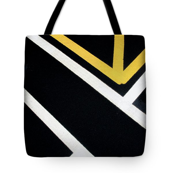 Tote Bag featuring the photograph Diagonal Path Traffic Lines by Gary Slawsky