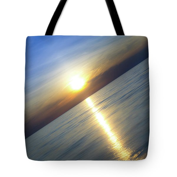 Diagonal Sunset Tote Bag
