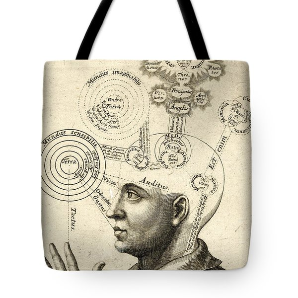 Diagram Of Human Thought And The Four Senses Tote Bag