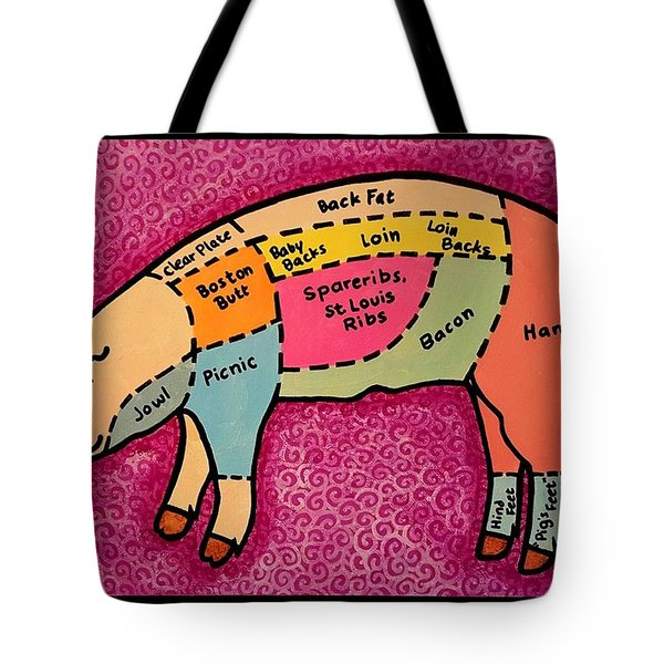 Diagramed Pig Tote Bag