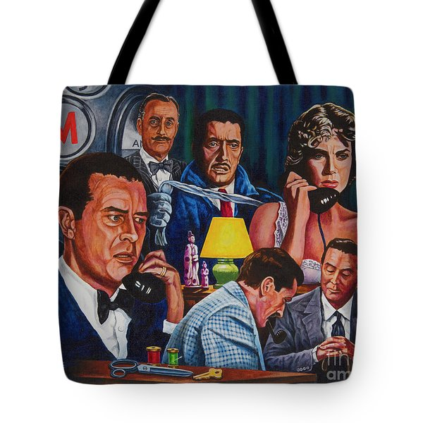 Tote Bag featuring the painting Dial M For Murder by Michael Frank