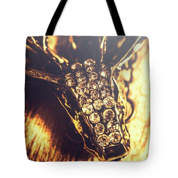 Diamond Encrusted Wildlife Bracelet Tote Bag
