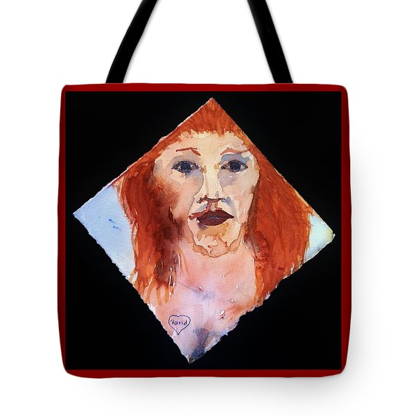 Tote Bag featuring the painting Diamond Girl by Rand Swift