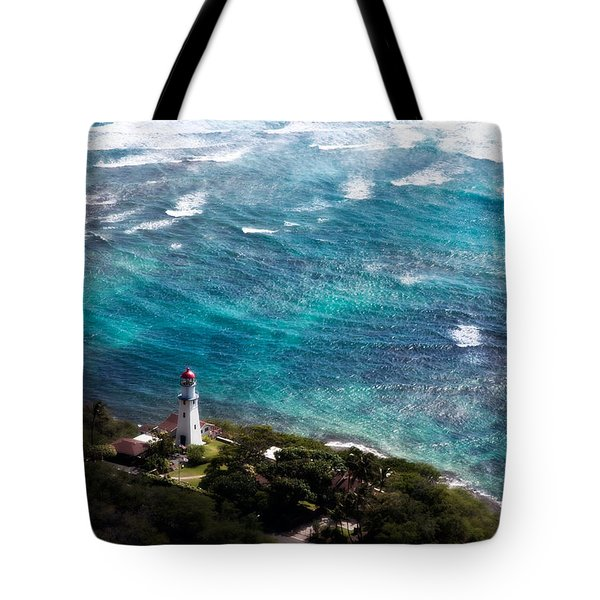 Diamond Head Lighthouse Tote Bag by Steven Sparks