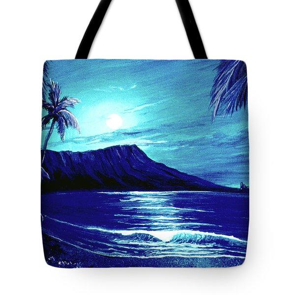 Diamond Head Moon #123 Tote Bag by Donald k Hall