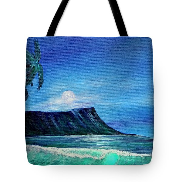 Diamond Head Moonscape #371 Tote Bag by Donald k Hall