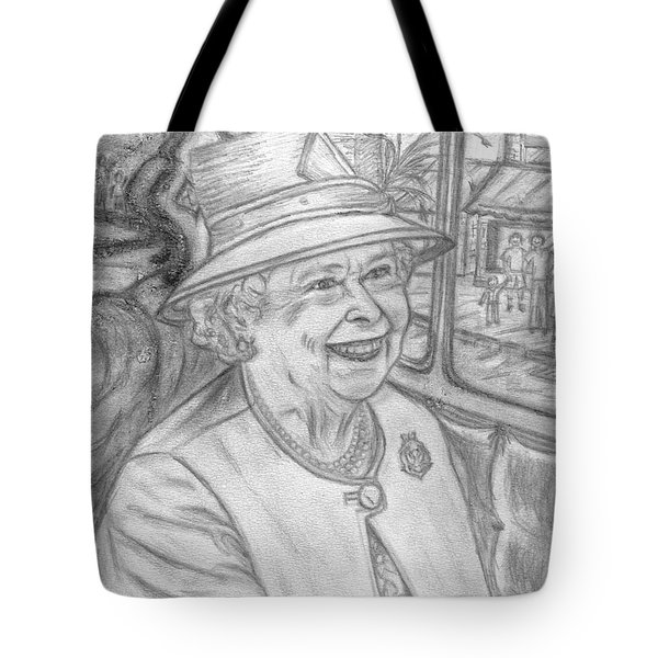 Tote Bag featuring the drawing Diamond Jubilee by Teresa White