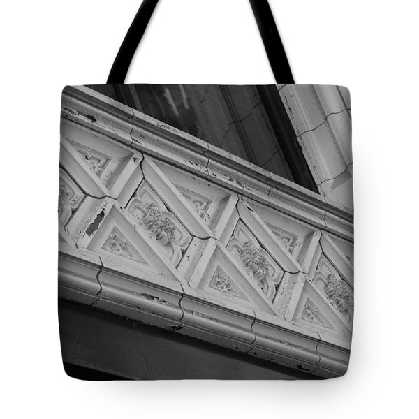 Diamond Patterns In Black And White Tote Bag