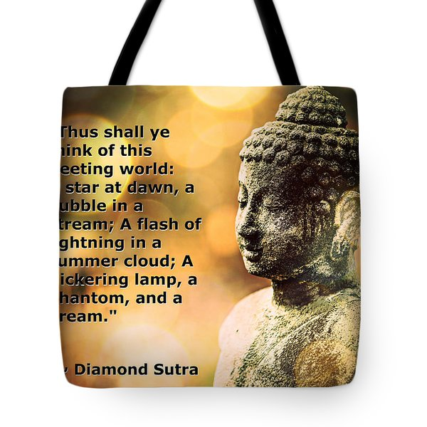 Diamond Sutra Quotation Art Tote Bag