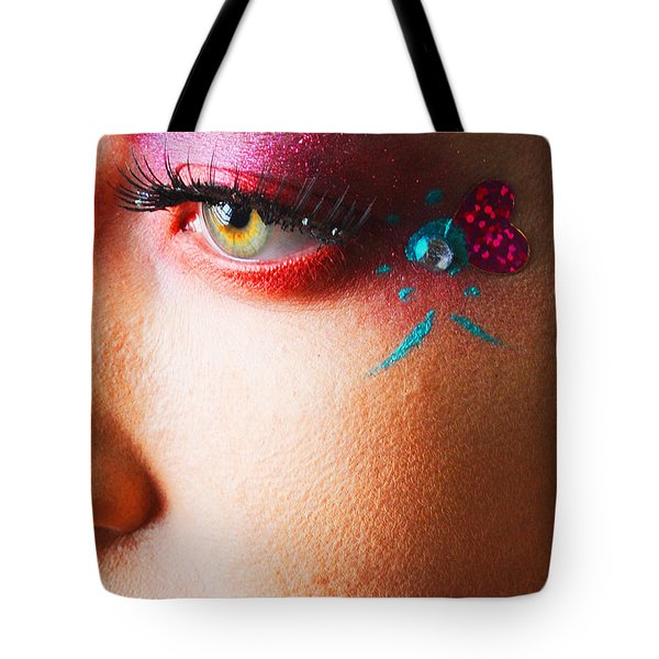 Diamond With Pink Tote Bag