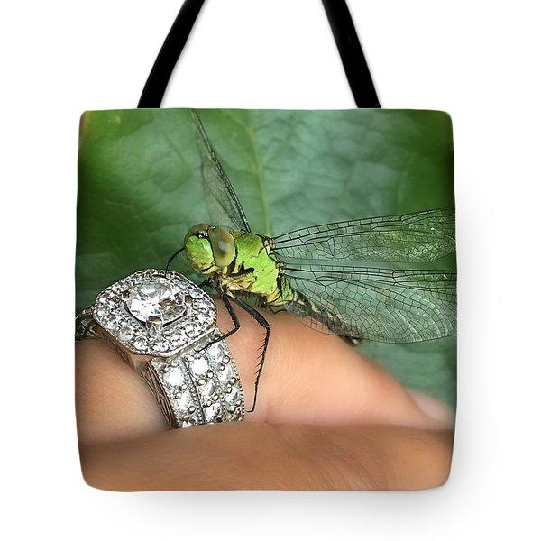 Diamonds Are A Dragonflies Best Friend Tote Bag