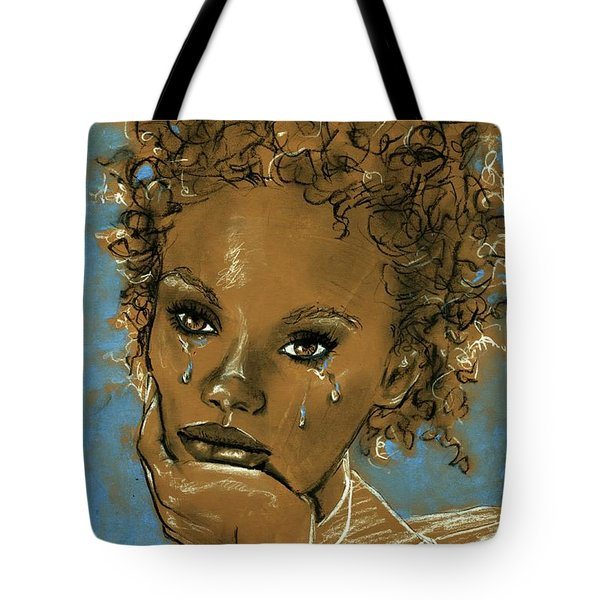 Tote Bag featuring the drawing Diamond's Daughter by P J Lewis