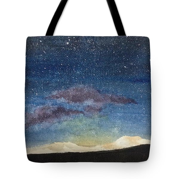 Tote Bag featuring the painting Diamonds In The Sky by Elizabeth Mundaden