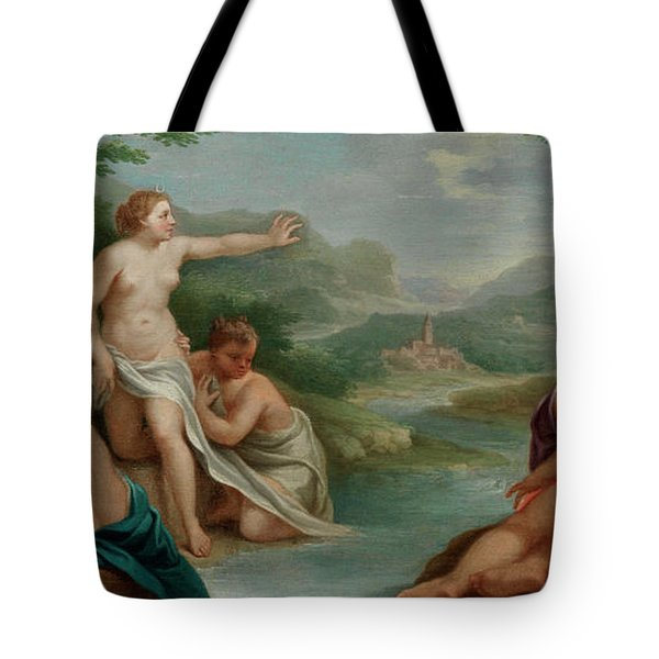 Diana And Actaeon Tote Bag