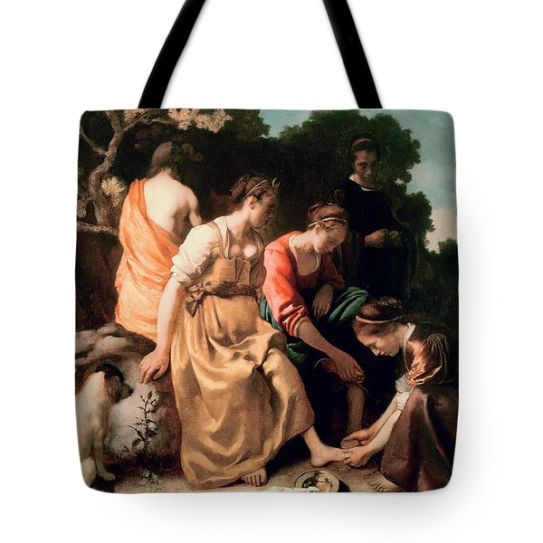 Diana And Her Companions Tote Bag by Jan Vermeer